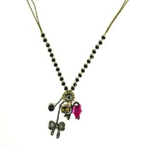 Betsey Johnson Ballerina Cat Necklace